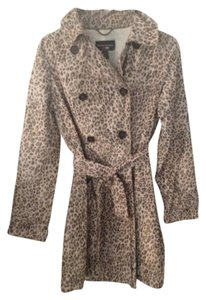 Banana Republic Trench Coat Animal Animal print Jacket