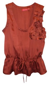 Elle Flower Design Top Red/orange