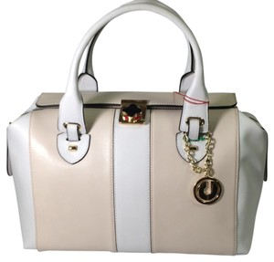 Charles Jourdan Satchel in Beige And Cream