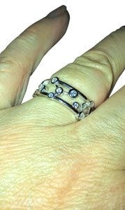 Other Sterling Silver Eternity Bubbles CZ Ring