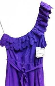 Soulmates short dress Purple One Shoulder on Tradesy