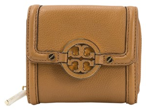 Tory Burch Tory Burch Royal Tan Amanda Trifold Zip Logo Wallet