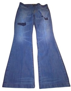 Serfontaine Boot Cut Jeans-Light Wash