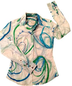 Robert Graham Classic Designer Top multi-color