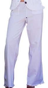 Lirome Bohemian Nautical Cottage Chic Summer Resort Straight Pants White