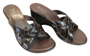 Nickels Size 7.50 M (Usa) Leather Very Good Condition Brown Mules