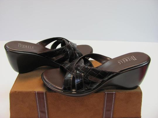 Nickels Size 7.50 M (Usa) Leather Very Good Condition Brown Mules Image 1