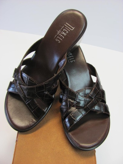 Nickels Size 7.50 M (Usa) Leather Very Good Condition Brown Mules Image 2