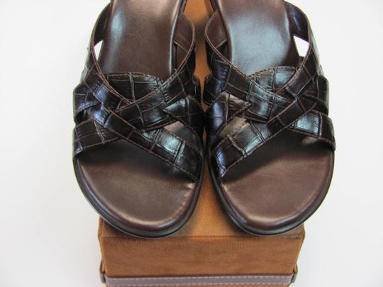 Nickels Size 7.50 M (Usa) Leather Very Good Condition Brown Mules Image 3