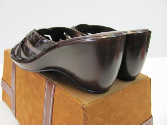 Nickels Size 7.50 M (Usa) Leather Very Good Condition Brown Mules Image 4