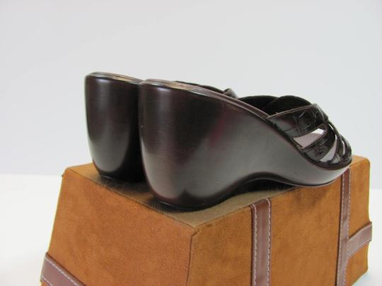 Nickels Size 7.50 M (Usa) Leather Very Good Condition Brown Mules Image 5