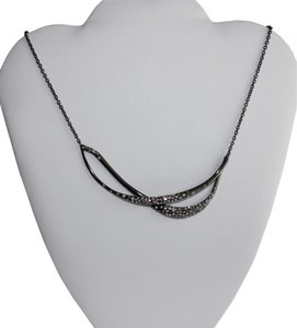 Alexis Bittar Alexis Bittar Miss Havisham Crystal Encrusted Twined Necklace - Gun Metal
