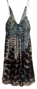 BCBGMAXAZRIA #bcbg #dress #blue #silk #floral Dress