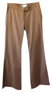 Marciano Flare Hem Stretch Stitched Trouser Pants Brown