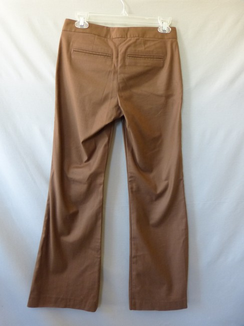 Marciano Flare Hem Stretch Stitched Pleats Trouser Pants Brown