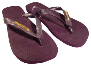 Havaianas Purple, Gold Sandals