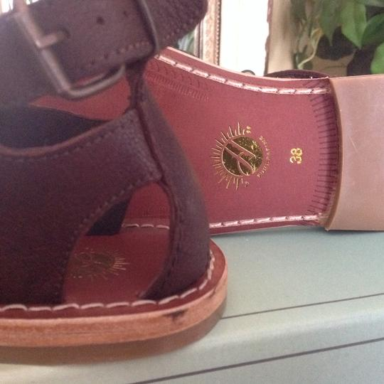H by Hudson Gladiator Leather Brown Sandals Image 1