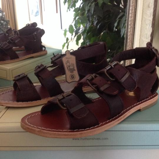 H by Hudson Gladiator Leather Brown Sandals Image 3