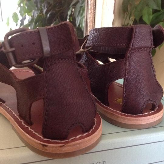 H by Hudson Gladiator Leather Brown Sandals Image 4