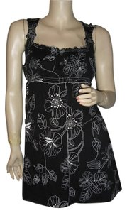 BCBGMAXAZRIA short dress embroidered black and white on Tradesy