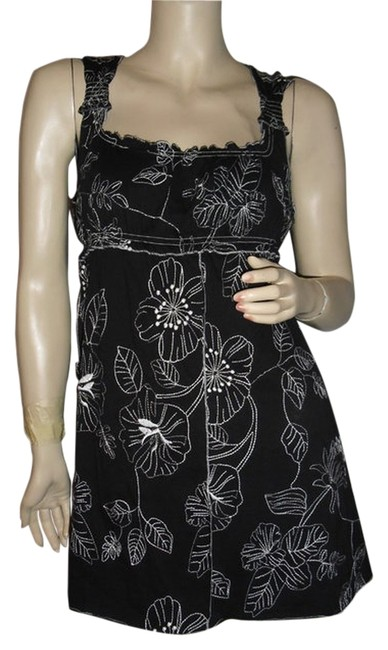 BCBGMAXAZRIA short dress embroidered black and white on Tradesy Image 0