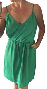 Lush short dress Green Pockets Summer on Tradesy