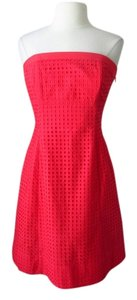 White House | Black Market short dress Coral Strapless on Tradesy