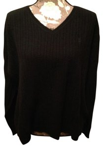 Ralph Lauren Wool Cashmere Cable Knit Work Polo Xl 16 18 V-neck Soft Plus Plus-size Sweater