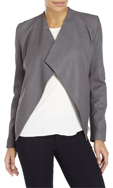 555 Los Angeles Grey Leather Jacket Image 0