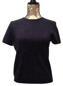 Neiman Marcus Short-sleeve Cashmere Sweater