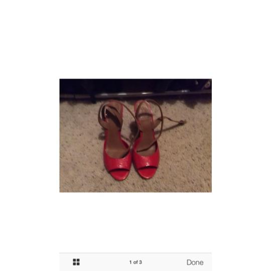 Tory Burch Red, brown Wedges Image 1