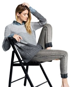 Easel Sweater Top Charcoal