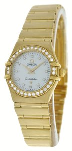 Omega Omega Constellation 22MM 18K Yellow Gold Diamond MOP Quartz Watch