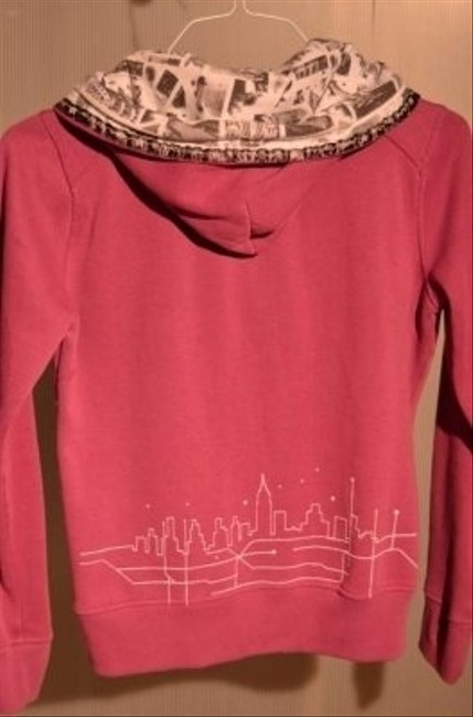 Zoo York Brand Zippered Size M With And Design Great Black & Design Inside Hood City Skyline Design 18 Sweatshirt