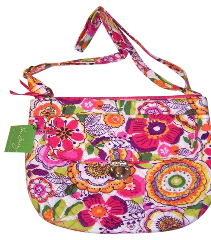 191d809dd3 Vera Bradley Fall Hipster Saddle Travel Office College Kids Moms Travel  Compact Christmas Gift Floral Cross ...