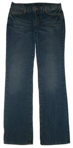 Lucky Brand Classic 5 Pocket Style *zip Fly *cotton/spandex *boot Leg Opening *machine Washable *whiskering Detail *stitched Back Boot Cut Jeans-Medium Wash