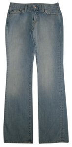 Lucky Brand Classic 5 Pocket Style *zip Fly *cotton/spandex *machine Washable *boot Leg Opening *distressing Detail *mid Rise Boot Cut Jeans-Light Wash