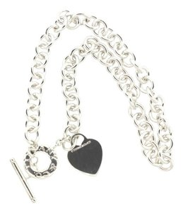 Tiffany & Co. Authentic Tiffany & Co. Sterling Silver Heart Pendant Toggle Necklace 16