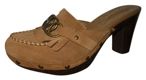 Truflex Suede light brown Mules