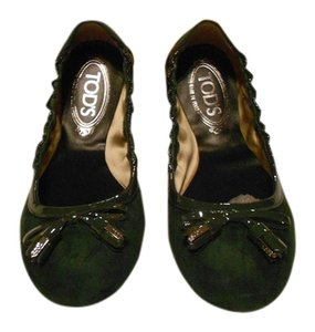Tod's Color Made In Italy Green Flats