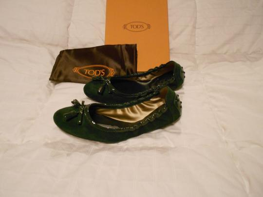 Tod's Color Made In Italy Green Flats Image 3