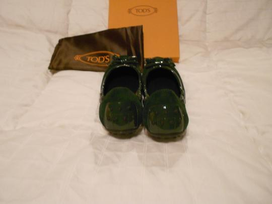 Tod's Color Made In Italy Green Flats Image 4