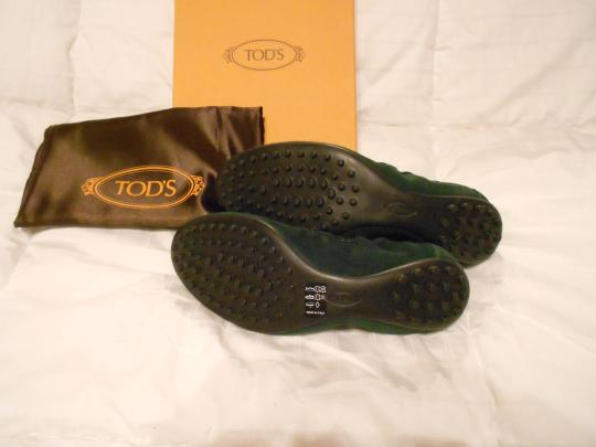 Tod's Color Made In Italy Green Flats Image 5