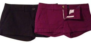 American Eagle Outfitters Mini/Short Shorts Purple/black