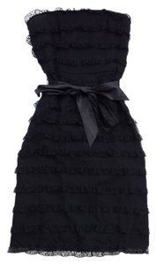 Betsey Johnson short dress Black Strapless Tiered on Tradesy