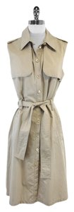 PAULE KA short dress Tan Cotton Trench on Tradesy