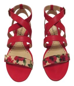 Other 55273 Floral Accents Designed And Made Made In Italy Rosso Sandals