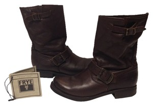 Frye Leather Boot Veronica Dark Brown Boots