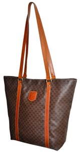 Céline Paris Shopper Handbag Purse Shoulder Shoulder Carry All Carry On Pocketbook Made In Italy High End Chic Purse Tote in Brown