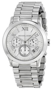 Michael Kors Stainless Steel Silver tone Casual Sport Designer Watch